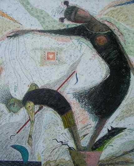 油絵絵画「3回目の方法」