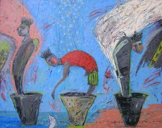 油絵絵画「パラレル」