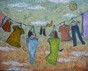 油絵絵画「ブランコ」