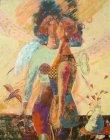 油絵絵画「制約と目醒め」