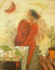 油絵絵画「スターチャイルド」