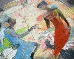 油絵絵画「受胎告知」