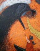 油絵絵画「天使になった日」