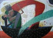 油絵絵画「酔月舟」